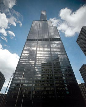 Exterior View of Sears Tower in Chicago
